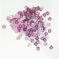 Pink Glitz Table Confetti - Age 13